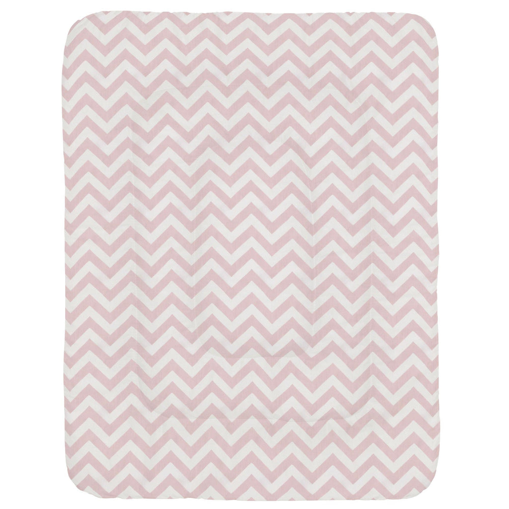 Product image for Pink Zig Zag Crib Comforter