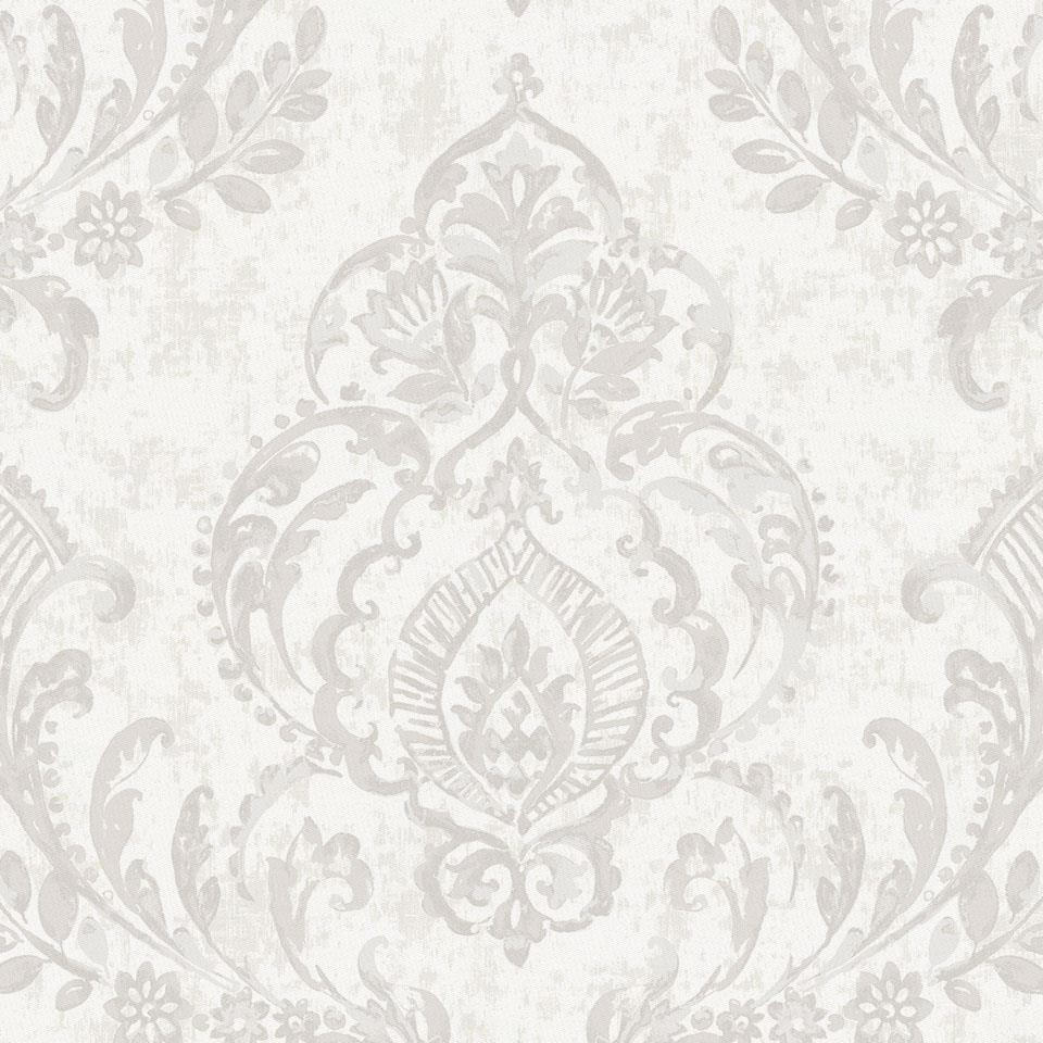 Product image for French Gray Painted Damask Cradle Sheet