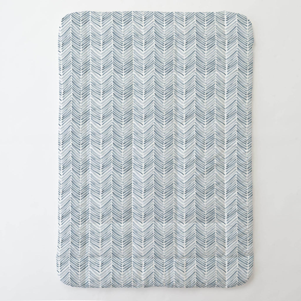 Product image for Steel Blue Painted Chevron Toddler Comforter