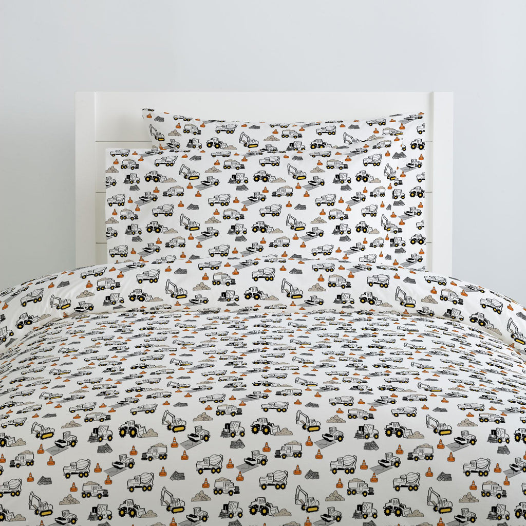 Product image for Construction Trucks Duvet Cover