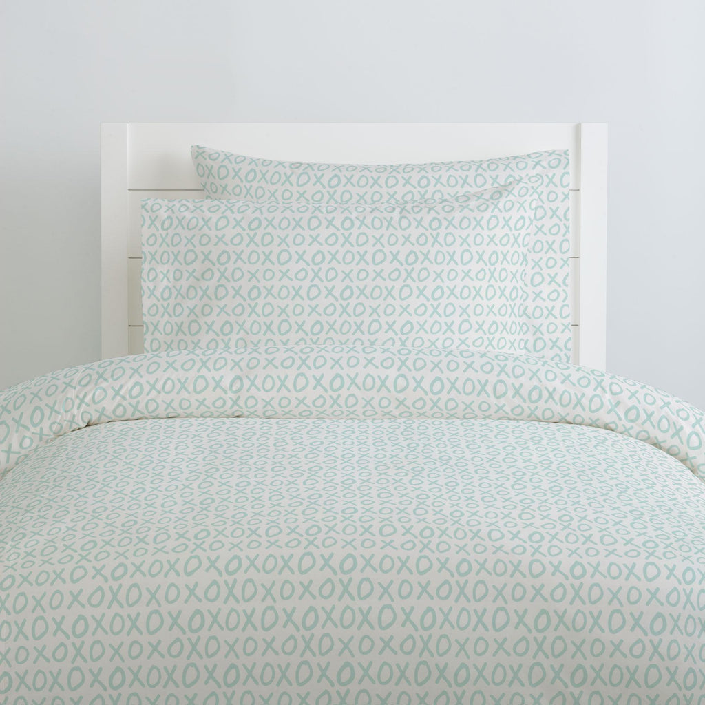 Product image for Icy Mint XO Duvet Cover