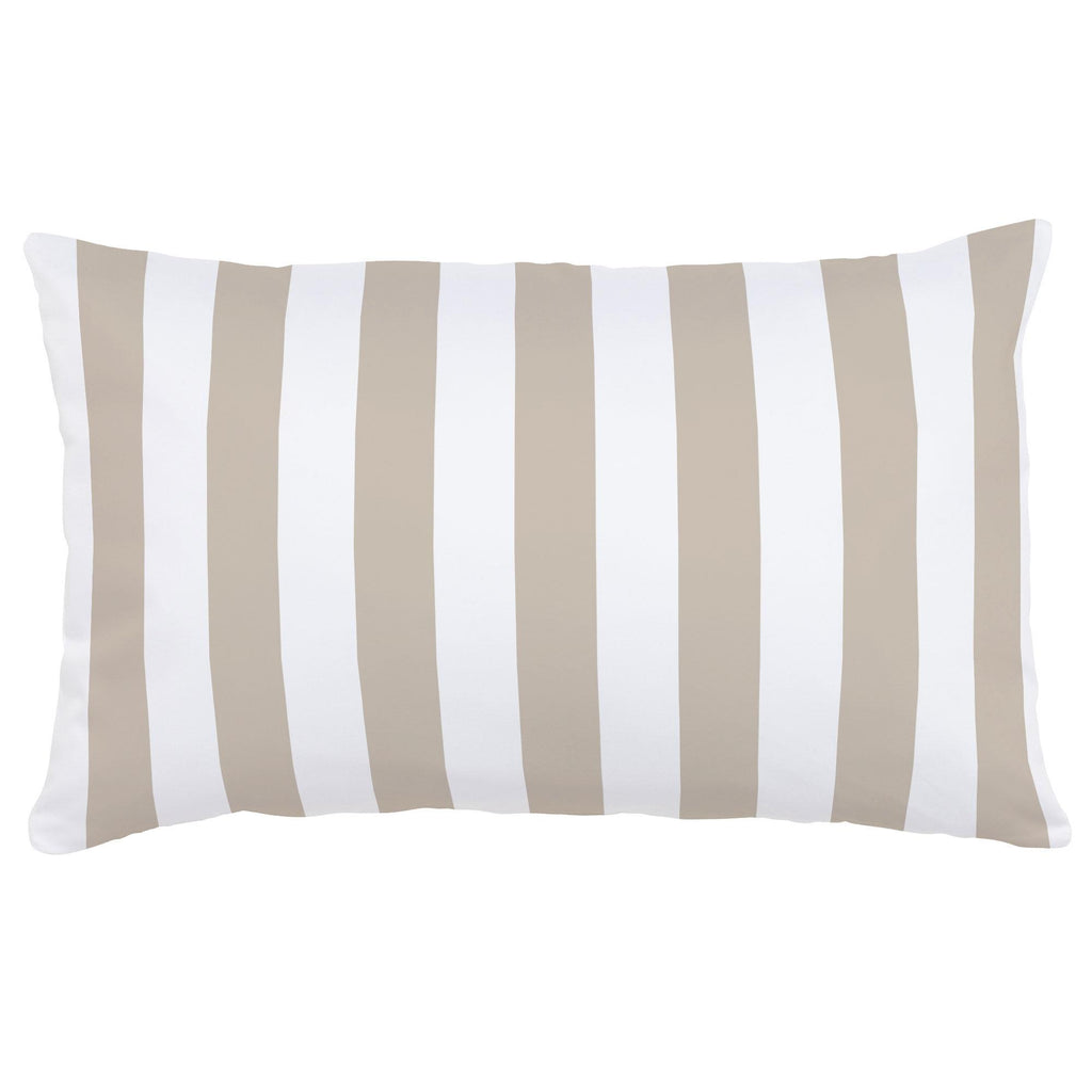 Product image for Taupe Stripe Lumbar Pillow
