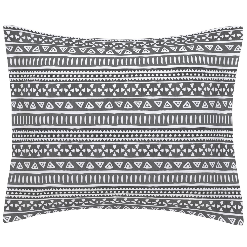 Product image for Gray Watercolor Tribal Pillow Sham