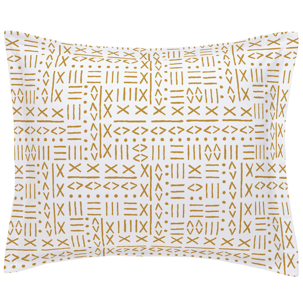 Product image for Mustard Mudcloth Pillow Sham
