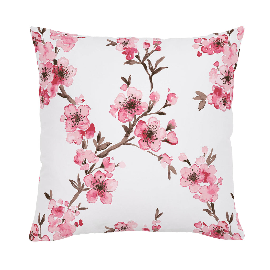 Product image for Pink Cherry Blossom Throw Pillow