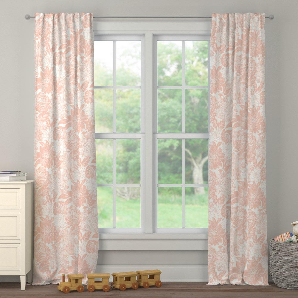 Product image for Peach Modern Blooms Drape Panel
