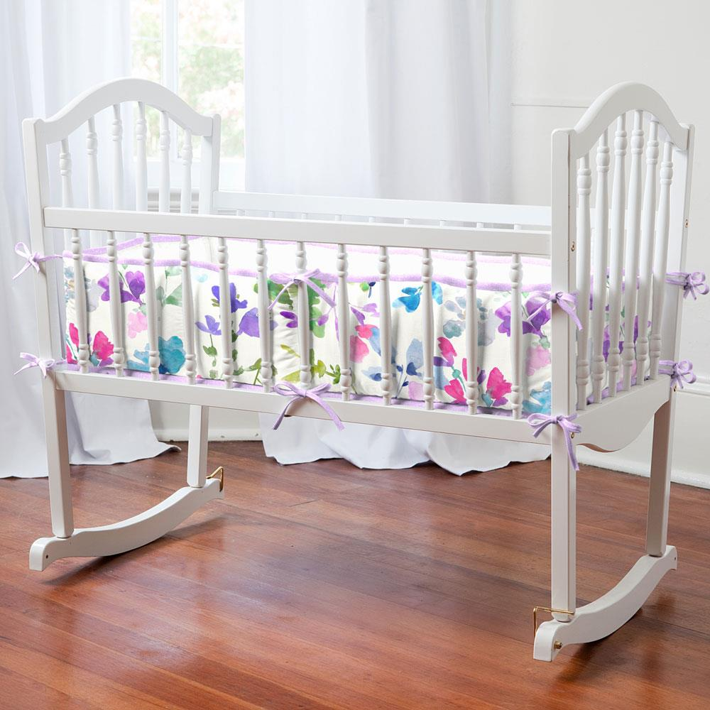 Product image for Bright Wildflower Cradle Bumper