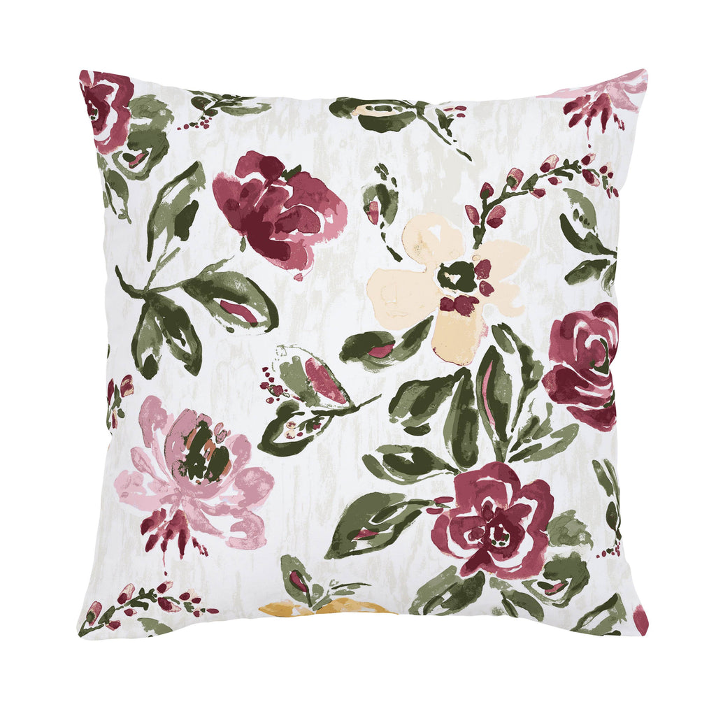 Product image for Merlot Garden Throw Pillow