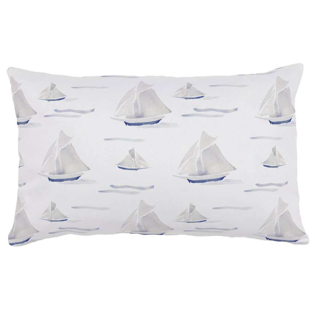 Product image for Watercolor Sailboats Lumbar Pillow