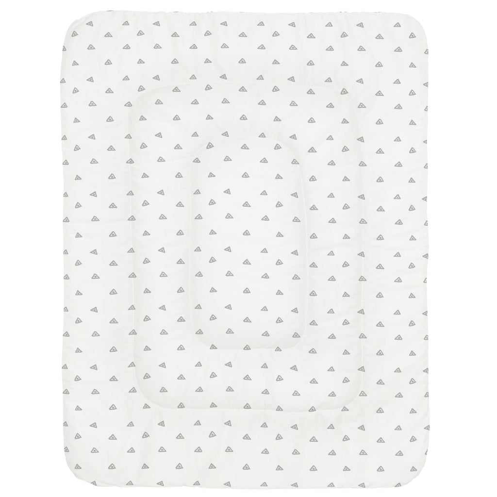 Product image for Silver Gray Triangle Dots Crib Comforter