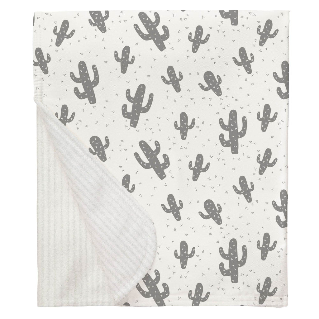 Product image for Cloud Gray Cactus Baby Blanket