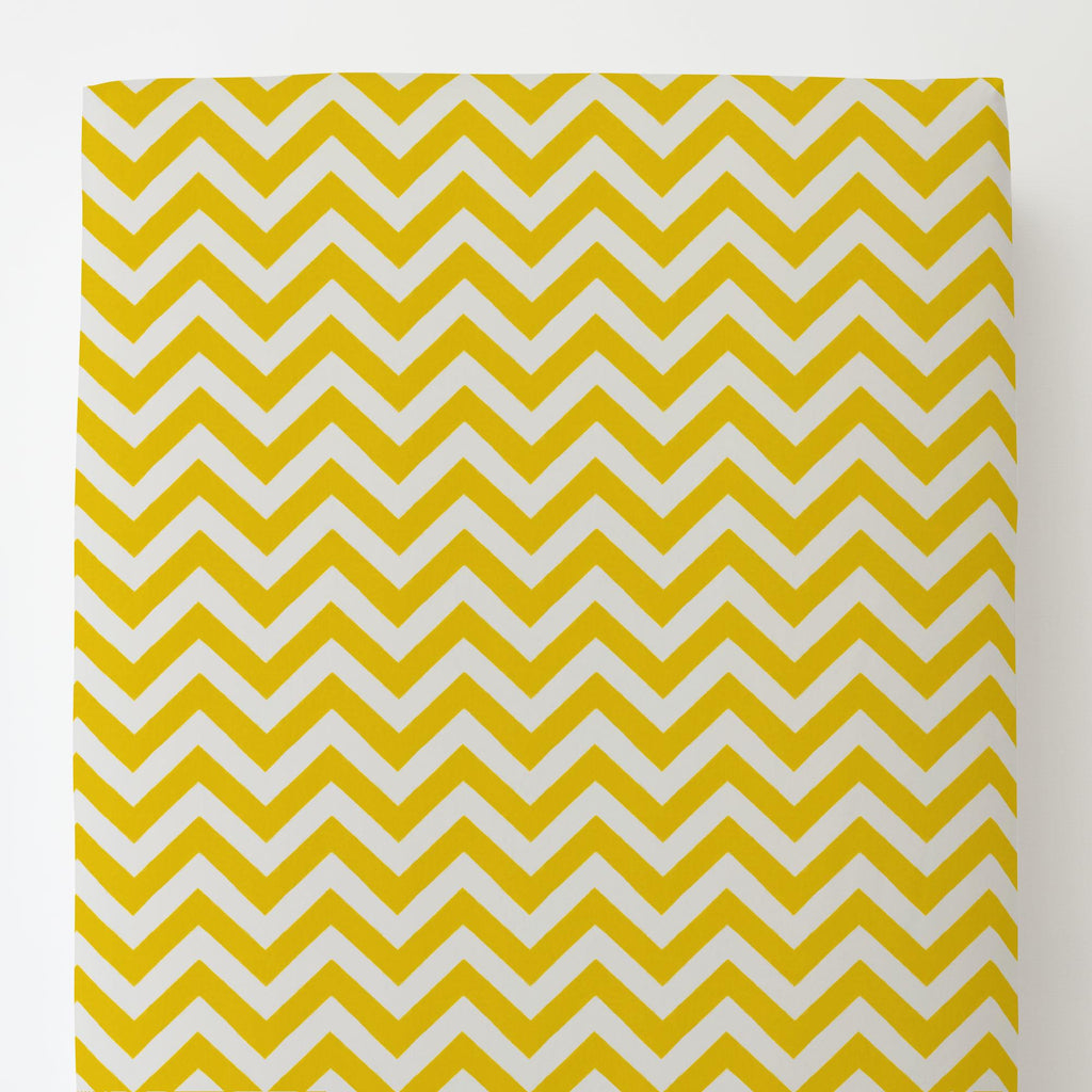 Product image for Yellow Zig Zag Toddler Sheet Bottom Fitted