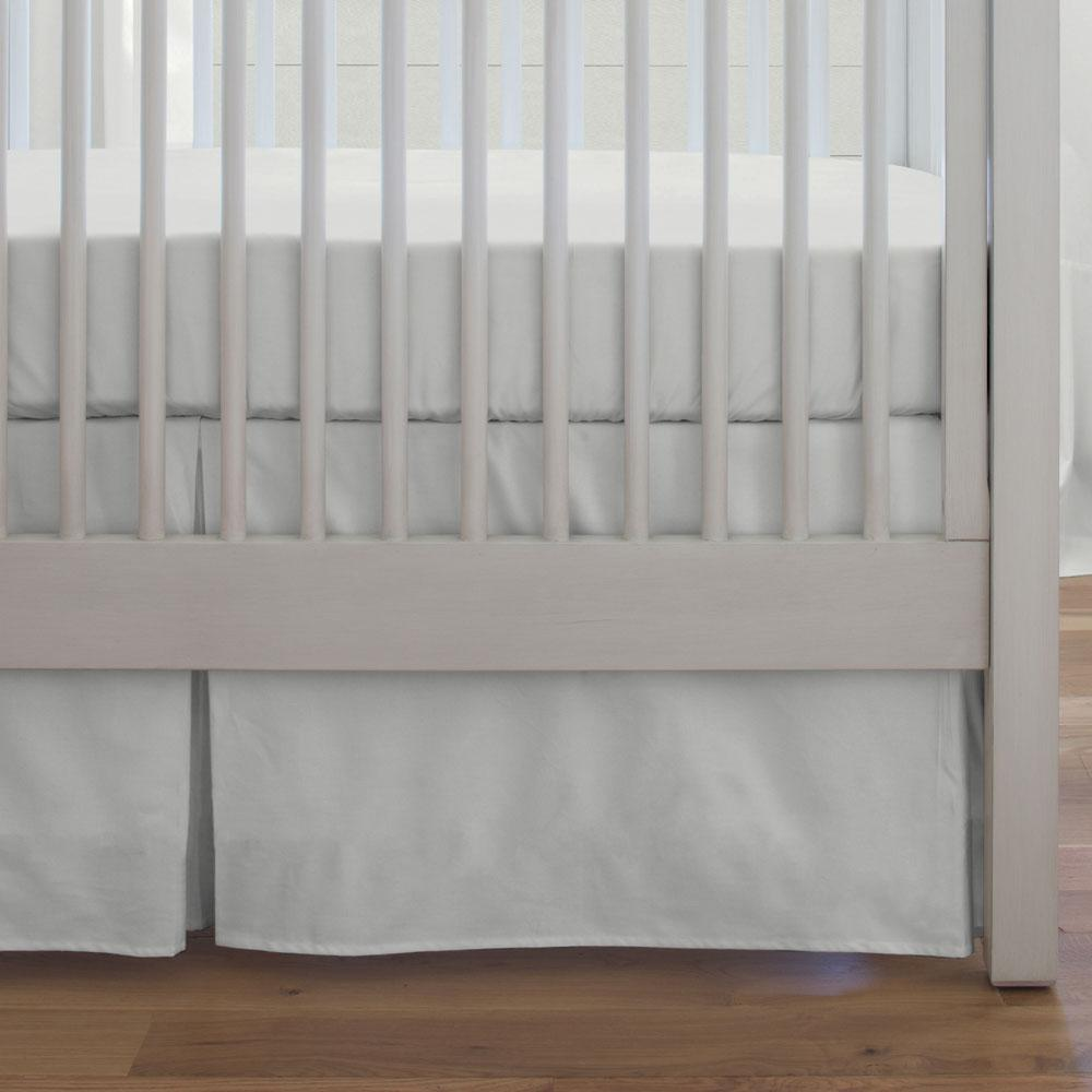 Product image for Solid Silver Gray Crib Skirt