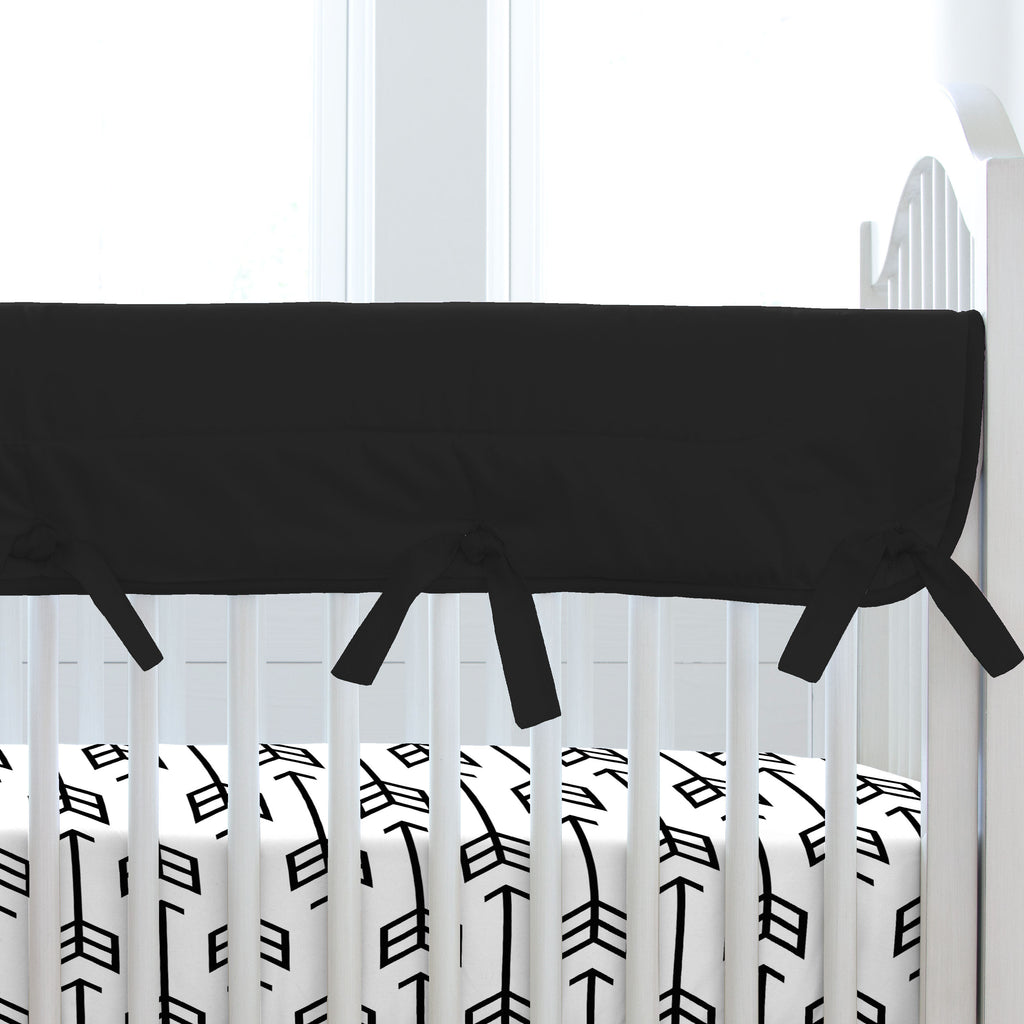 Product image for Solid Black Crib Rail Cover