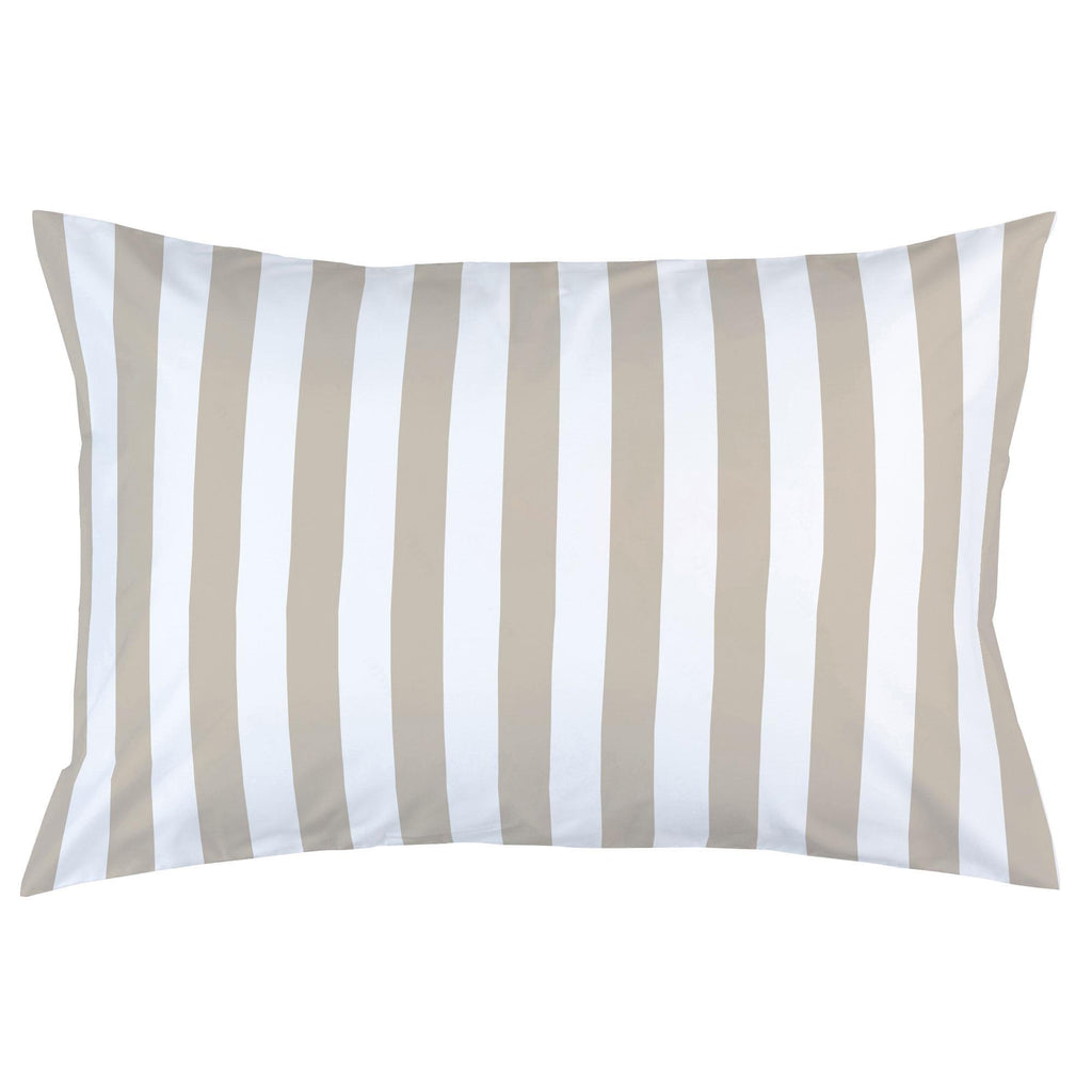 Product image for Taupe Stripe Pillow Case