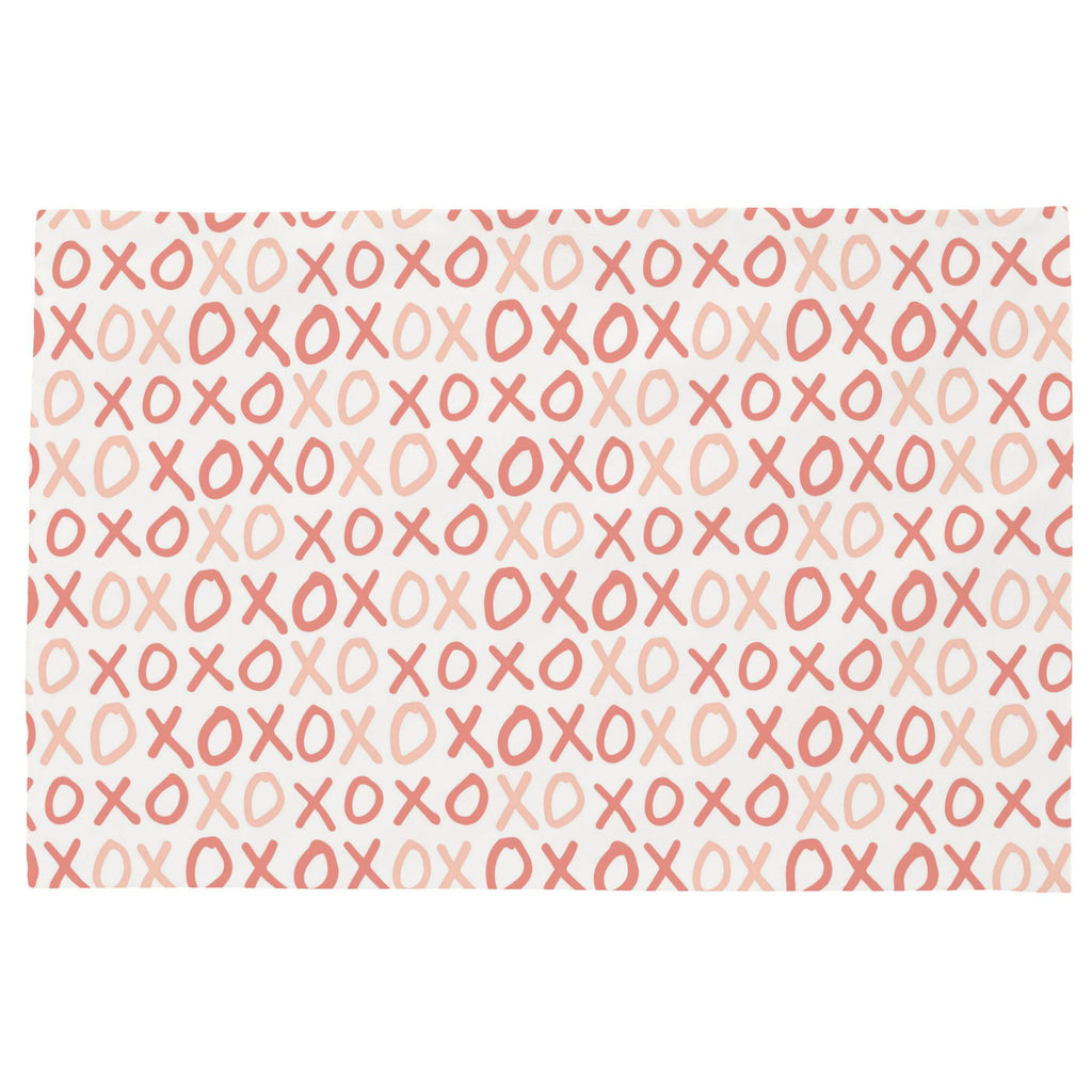 Product image for Light Coral and Peach XO Toddler Pillow Case