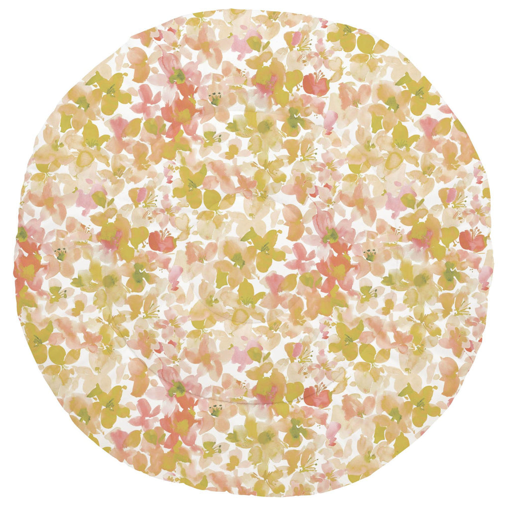 Product image for Peach and Sage Floral Baby Play Mat