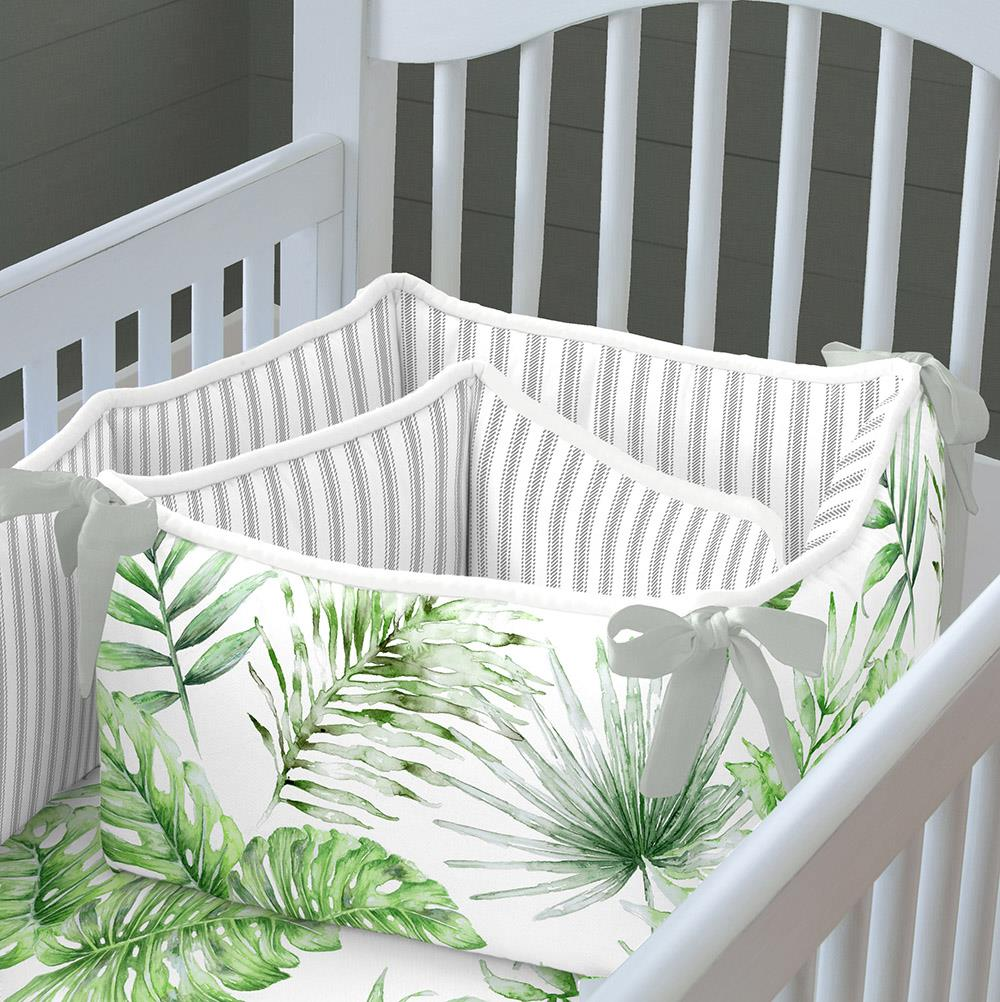 Product image for Green Painted Tropical Crib Bumper