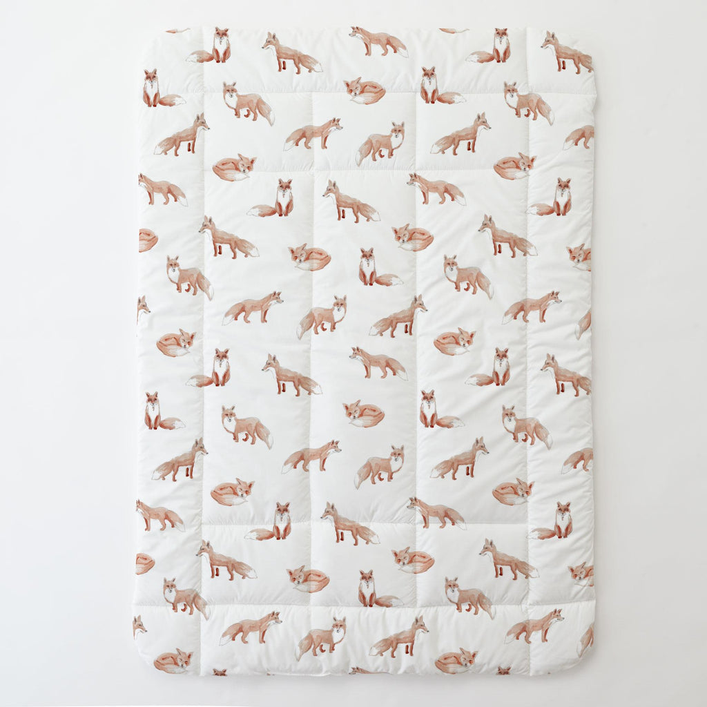 Product image for Watercolor Fox Toddler Comforter