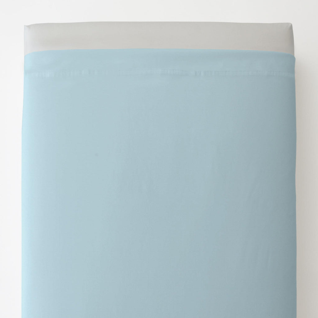 Product image for Solid Lake Blue Toddler Sheet Top Flat