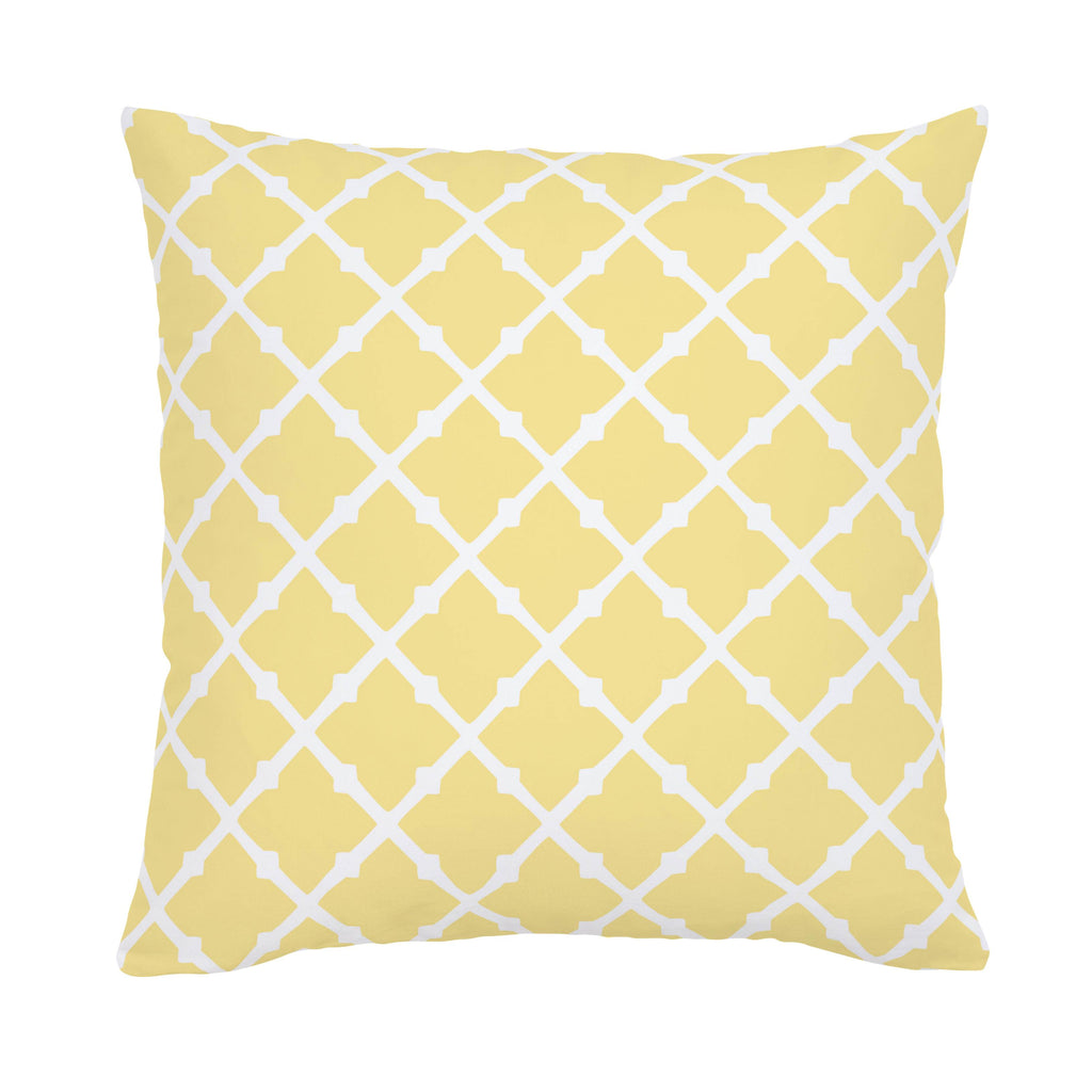 Product image for Banana Yellow Lattice Throw Pillow