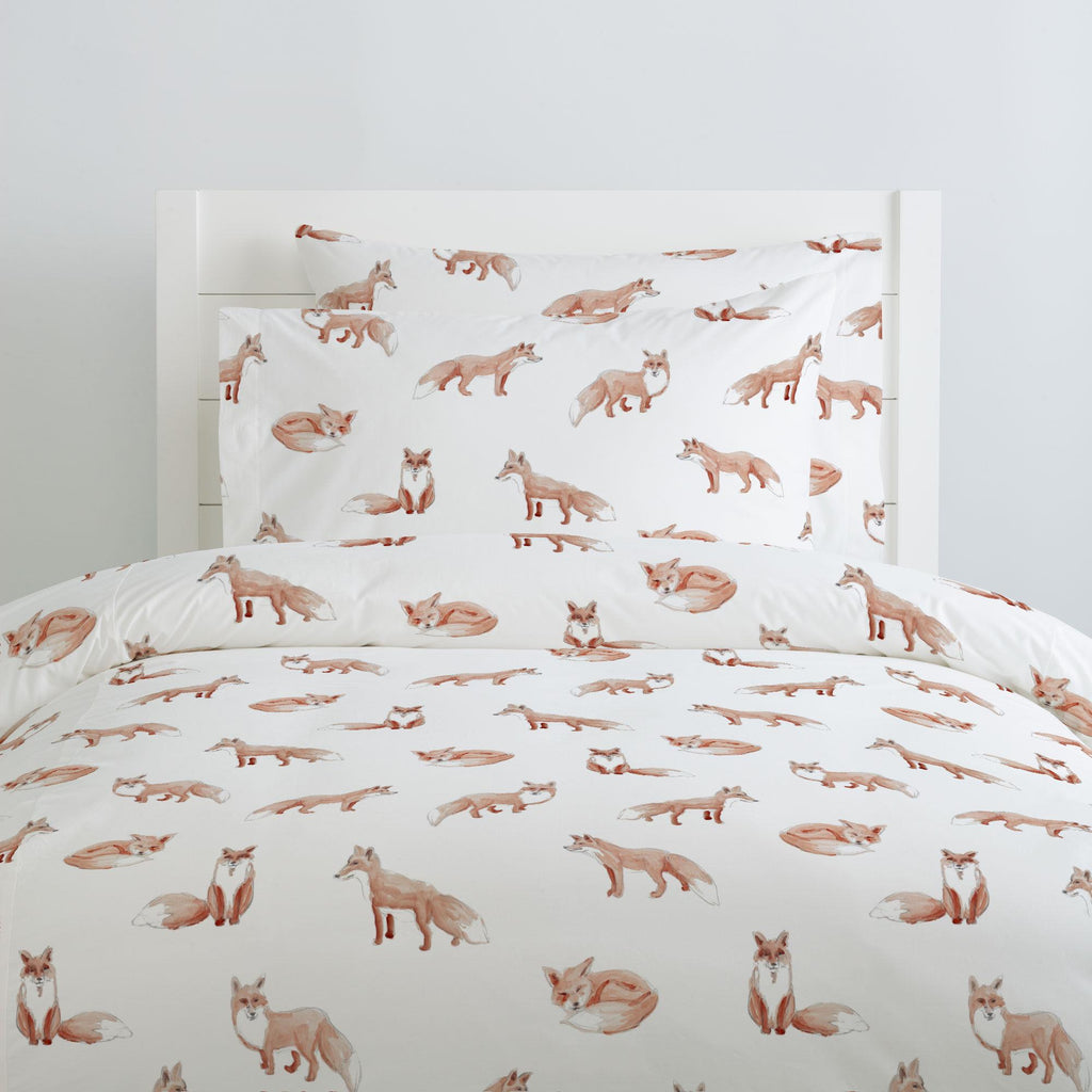 Product image for Watercolor Fox Duvet Cover