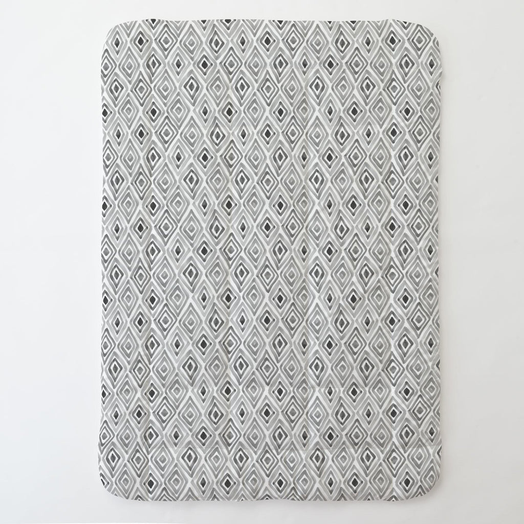 Product image for Gray Painted Diamond Toddler Comforter