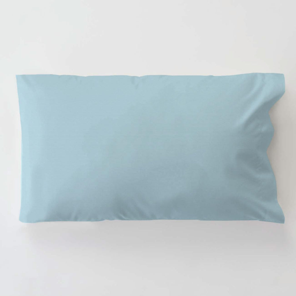 Product image for Solid Lake Blue Toddler Pillow Case with Pillow Insert