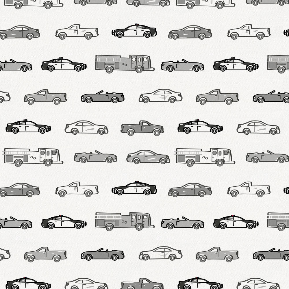 Product image for Gray Modern Cars Fabric