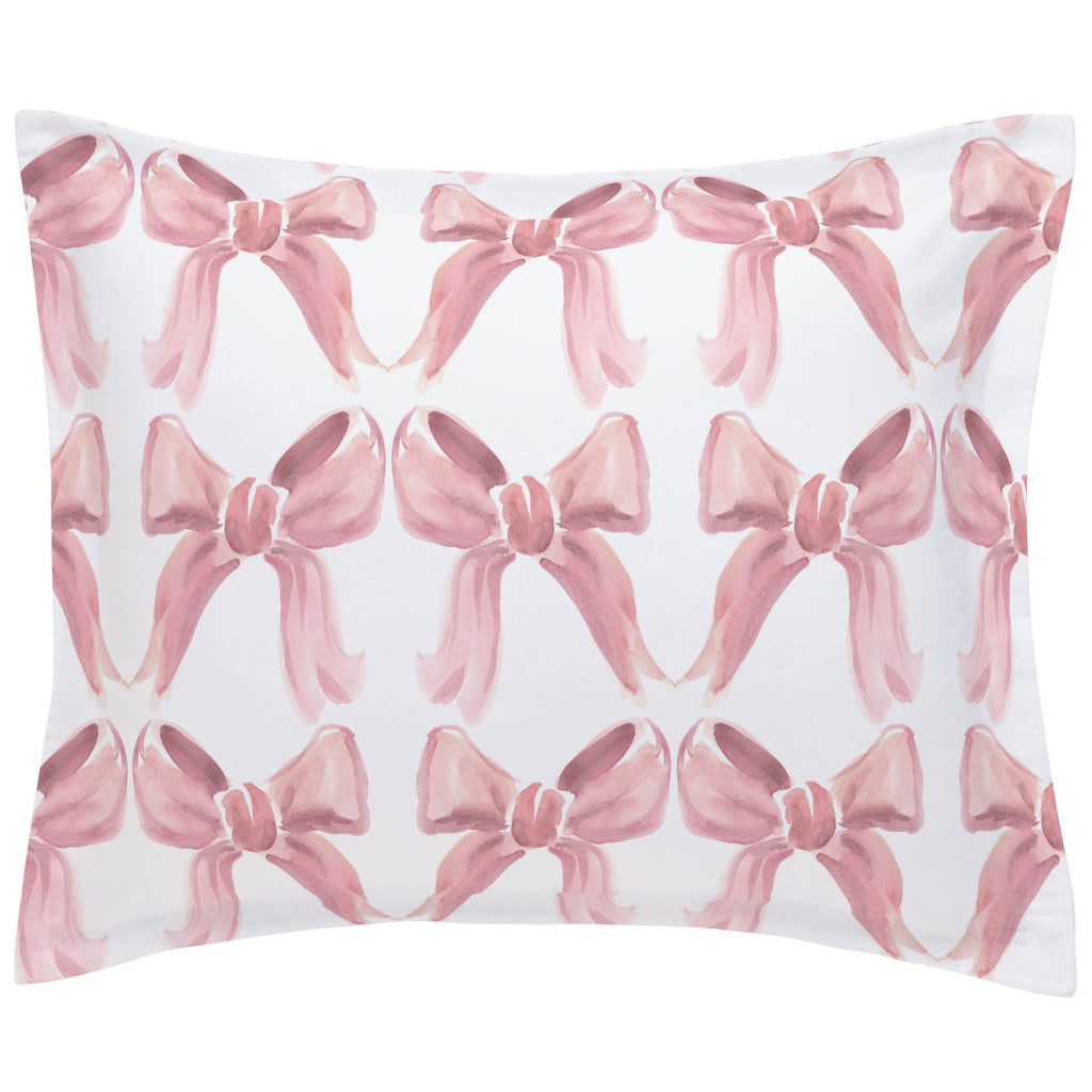 Product image for Pink Watercolor Bows Pillow Sham