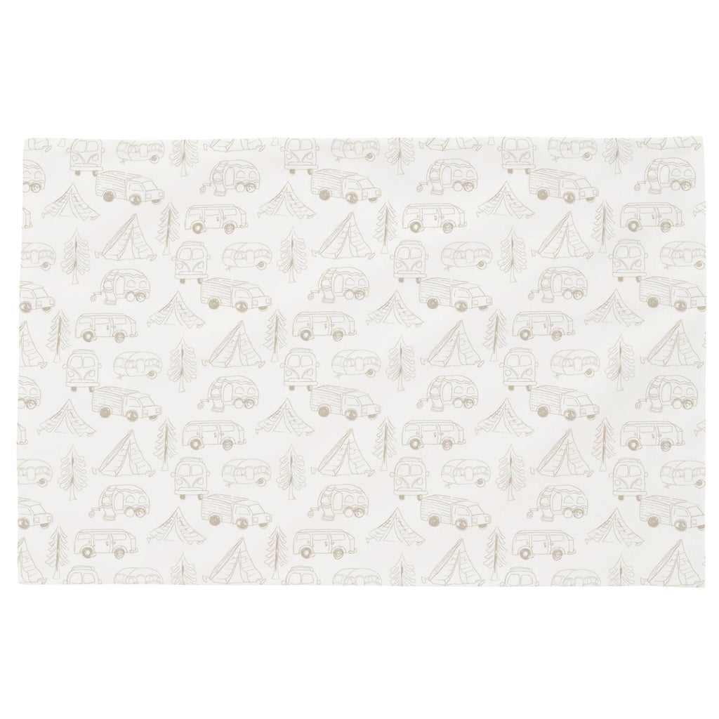 Product image for Taupe Little Campers Toddler Pillow Case