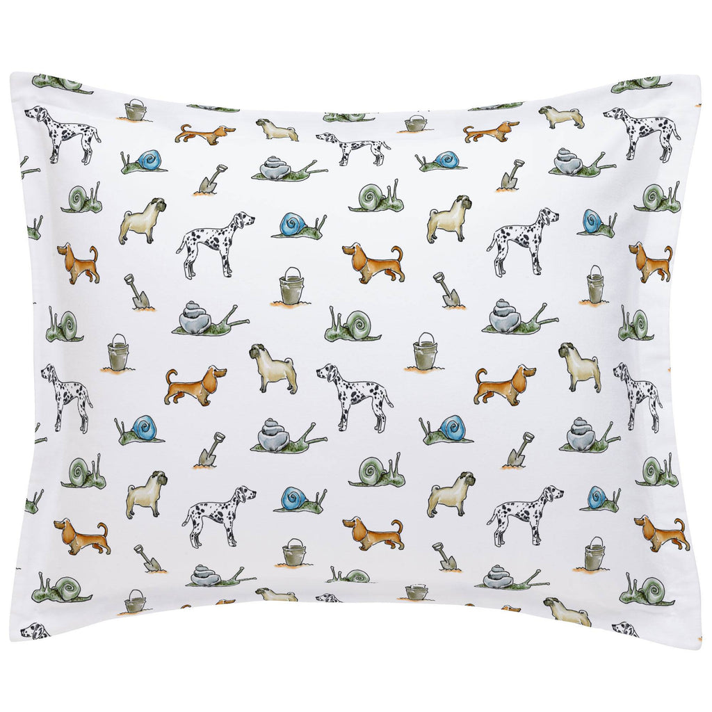 Product image for Snails and Tails Pillow Sham