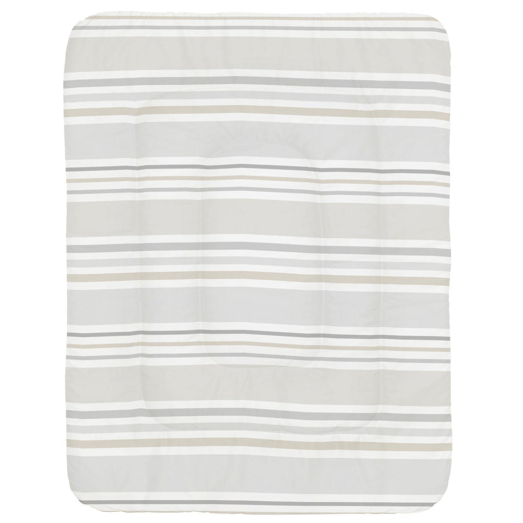 Product image for French Gray and Taupe Summer Stripe Crib Comforter