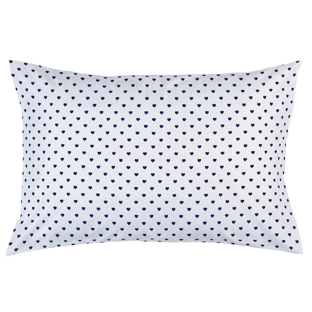 Product image for Windsor Navy Hearts Pillow Case