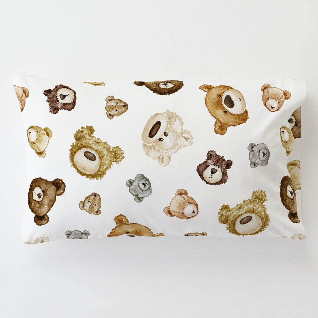 Product image for Teddy Bears Toddler Pillow Case with Pillow Insert