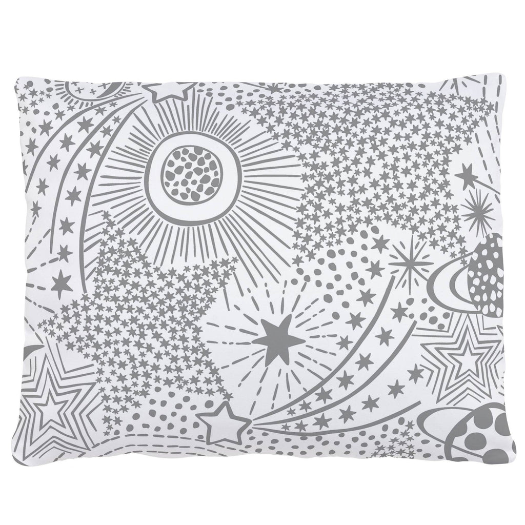 Product image for Cloud Gray Galaxy Accent Pillow
