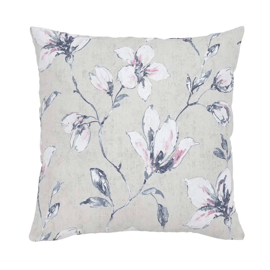 Product image for Pink and Blue Painted Lilies Throw Pillow