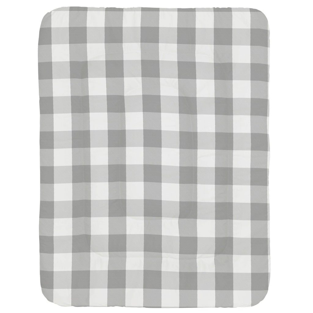 Product image for Gray Buffalo Check Crib Comforter