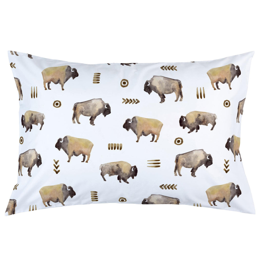 Product image for Watercolor Buffalo Pillow Case