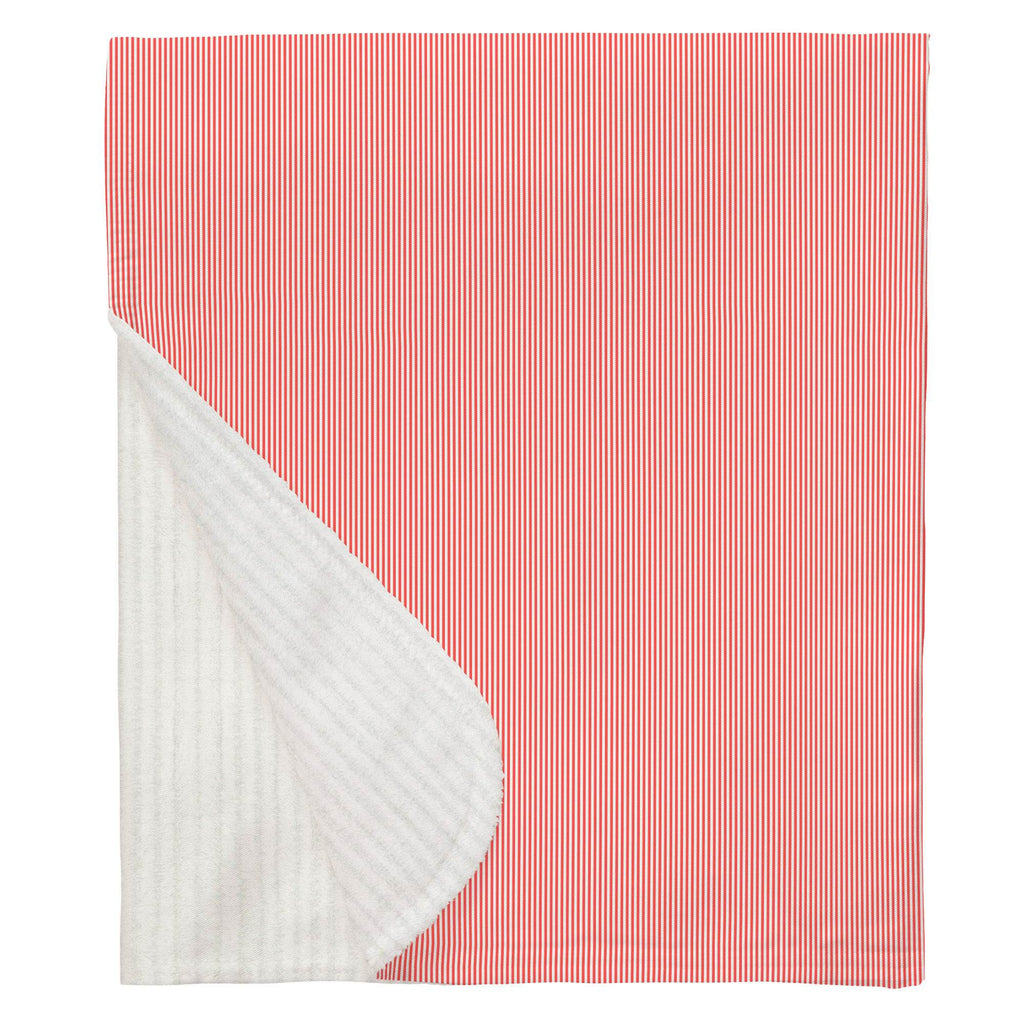 Product image for Coral Mini Stripe Baby Blanket