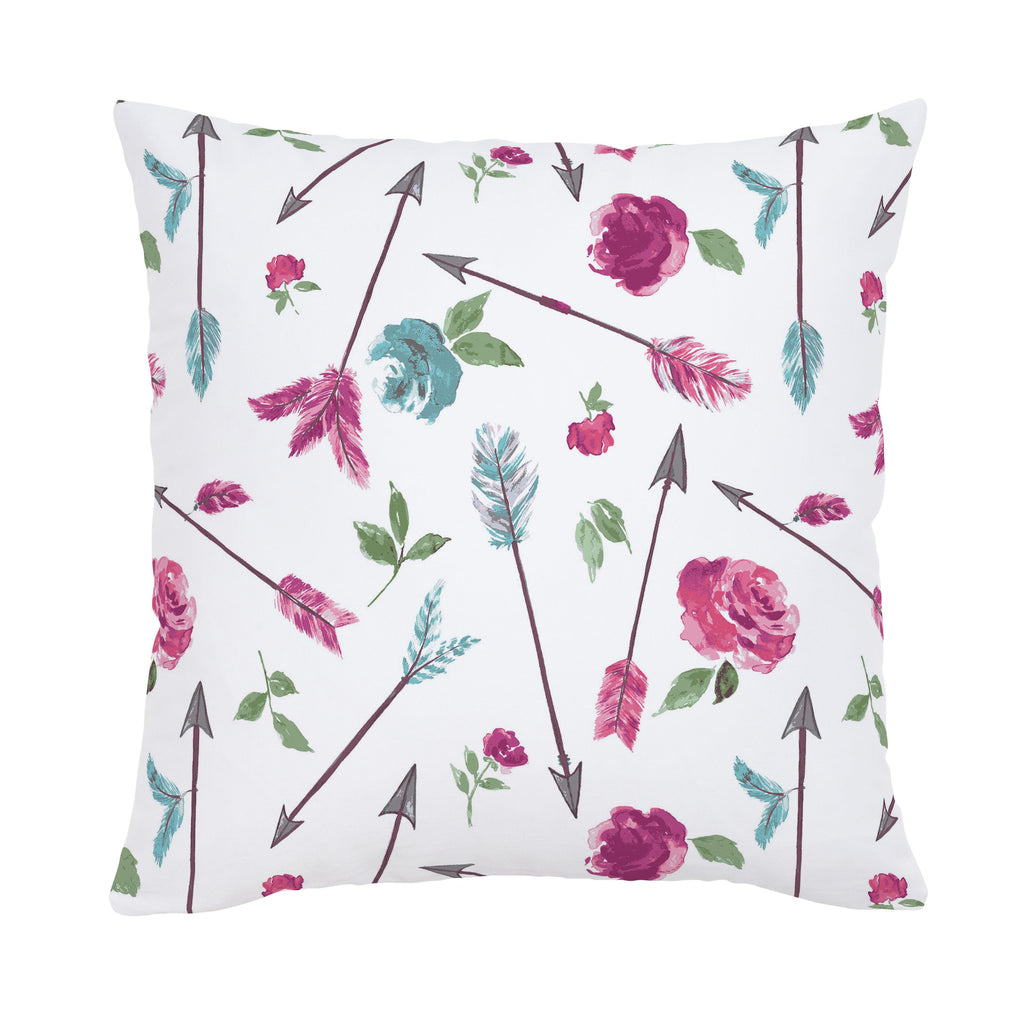Product image for Floral Arrow Throw Pillow