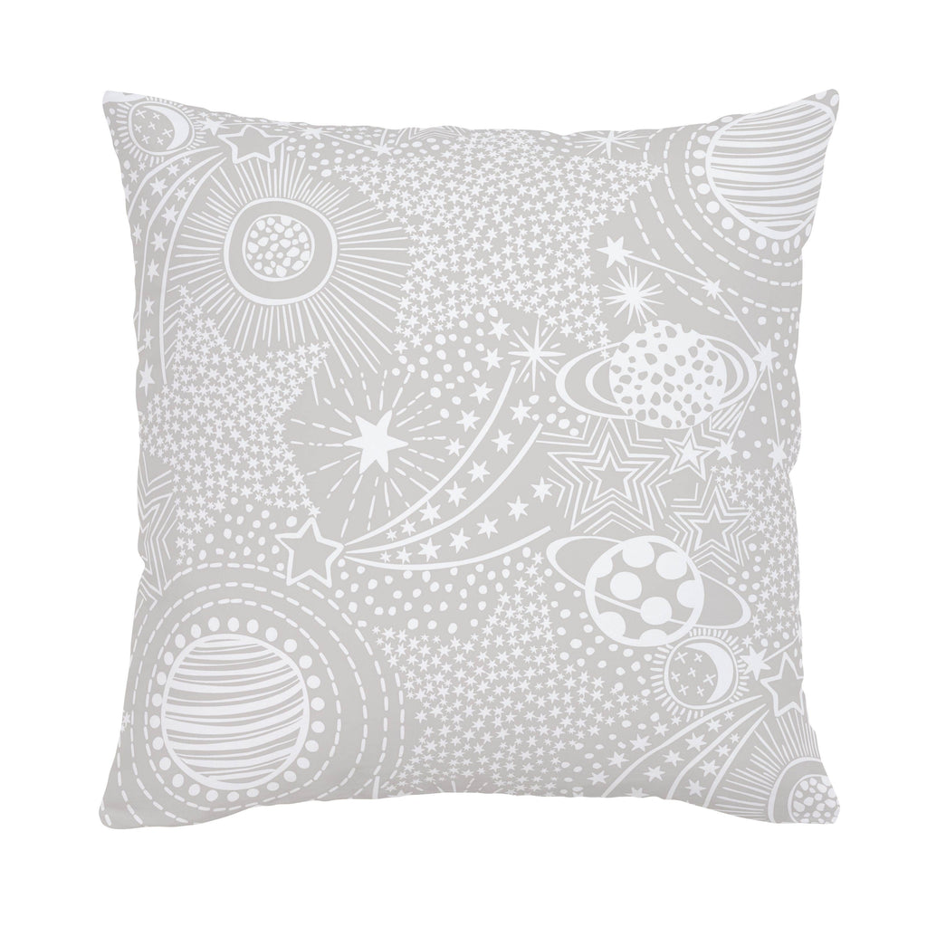 Product image for French Gray and White Galaxy Throw Pillow