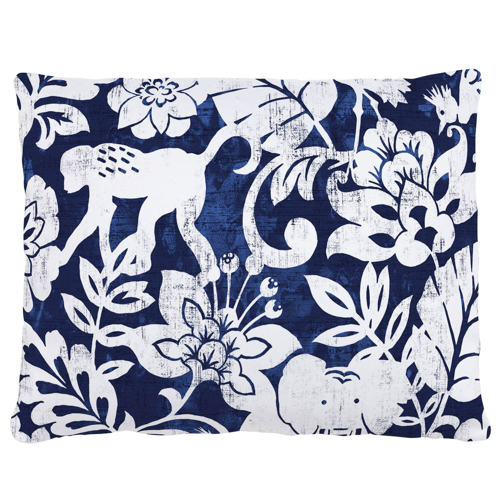 Product image for Navy and White Jungle Accent Pillow