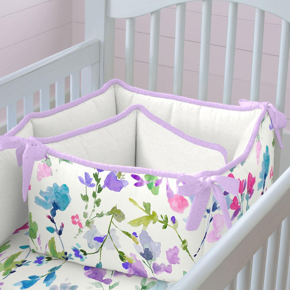 Product image for Bright Wildflower Crib Bumper