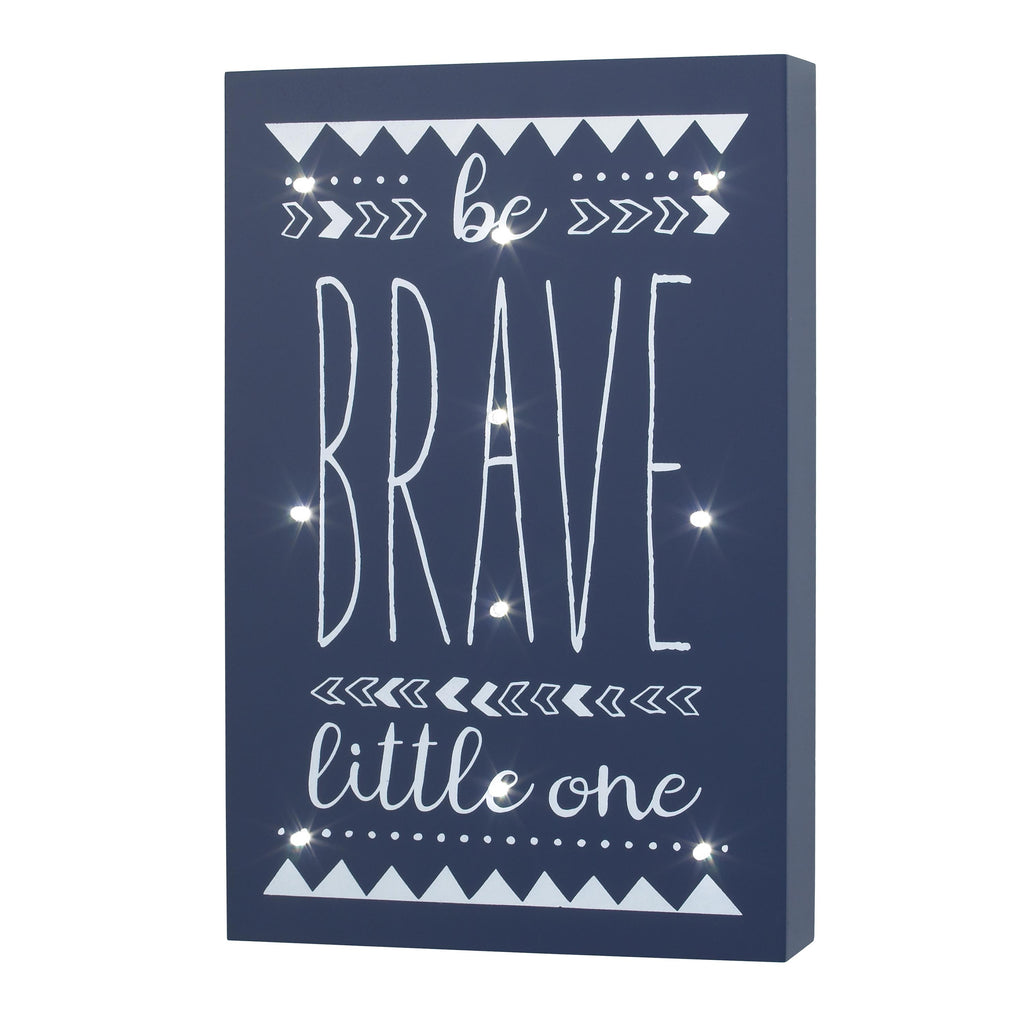 Product image for Be Brave Lighted Wall Art