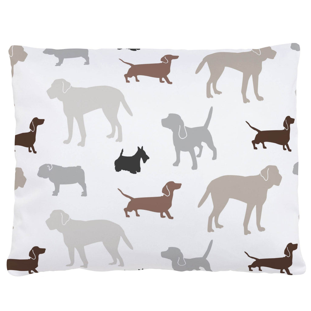 Product image for Brown and Gray Dogs Accent Pillow