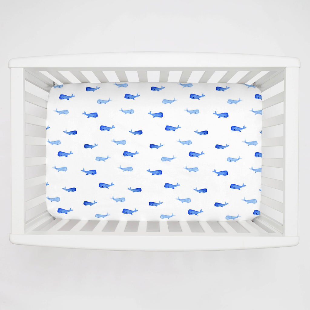 Product image for Whale of a Tale Mini Crib Sheet