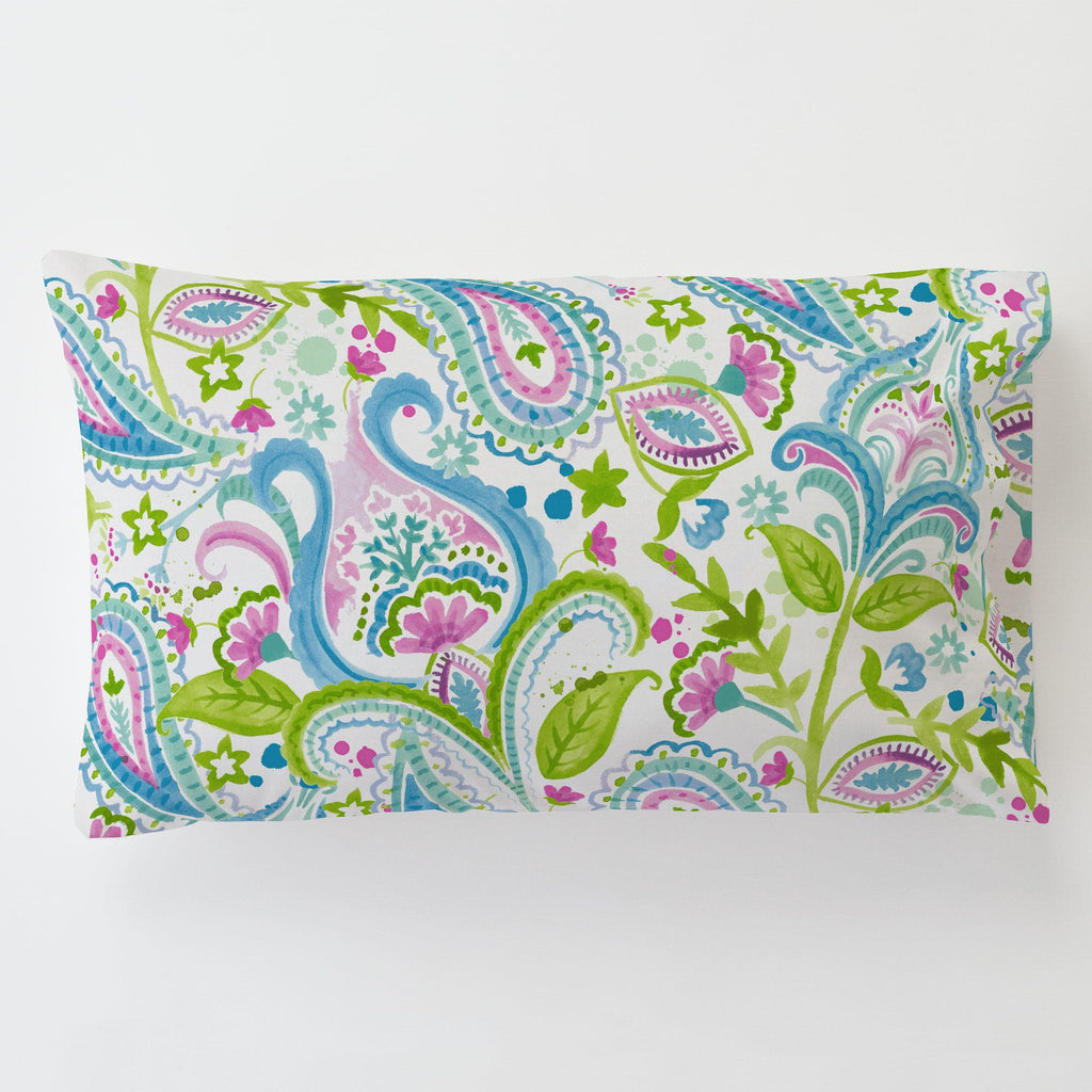 Product image for Orchid Painted Paisley Toddler Pillow Case with Pillow Insert