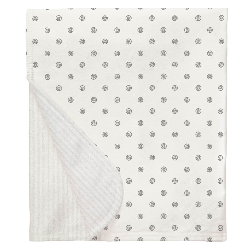 Product image for Cloud Gray Ditsy Dot Baby Blanket