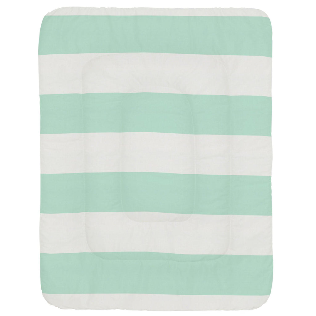 Product image for Icy Mint Horizontal Stripe Crib Comforter